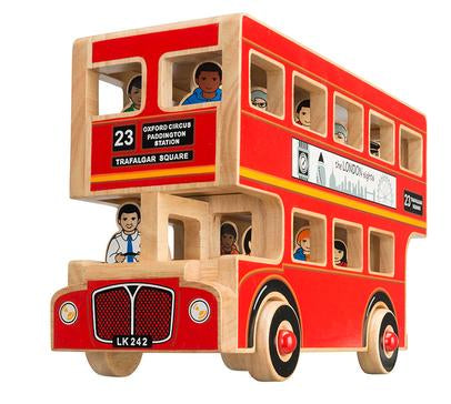 Wooden double decker london bus