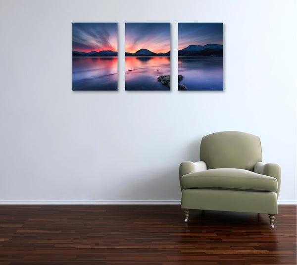 Sunset 3 Panel Canvas