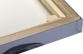 Canvas staples carefully covered