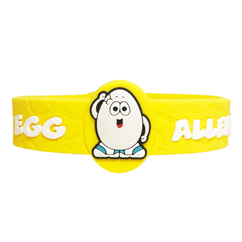 Egg food allergy bracelet for kids
