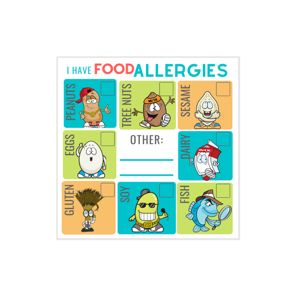 "I Have Food Allergies 2.25"" Checkoff Labels: Pack of 30"
