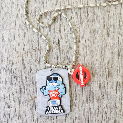 Asthma Medical Alert/Awareness Necklace