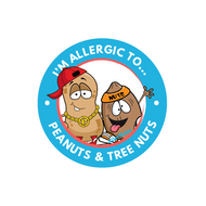 "2-Pack of Peanut & Tree Nut Allergy 2"" Labels pack of 15"