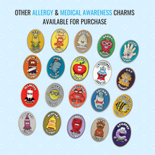 AllerMates Multi Food Allergy Awareness Charm Bracelet Kit for Children: (includes 6 charms)