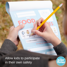 Food Allergy Classroom Forms Notepad