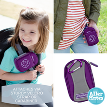 """Kate"" Small Purple Medicine Case Carrier for Auvi-Q or Asthma Inhaler"