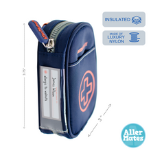 """Jake"" Small Navy Medicine Case Carrier for Auvi-Q or Asthma Inhaler"