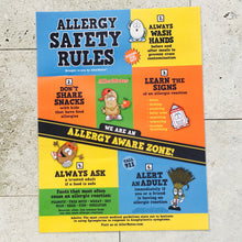 Allergy Safety Rules posters for schools