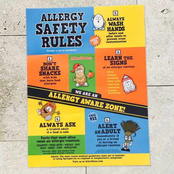 AllerMates Food Allergy Safety Rules Poster