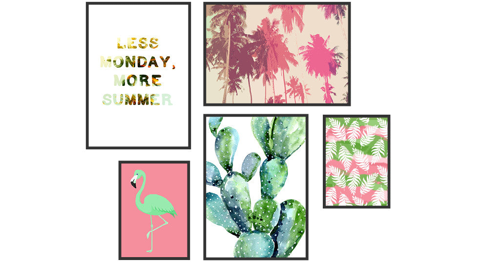 Get Your Free Tropical Printable Gallery Wall
