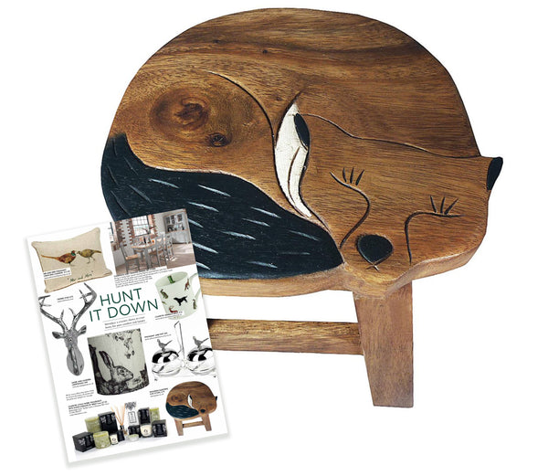Cute sleeping fox stool perfect for little girl's or boy's bedrooms. Featured in Live Magazine