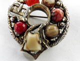 Miracle Scottish brooch, silver plated with faux agate stones - Taingtiques - 4