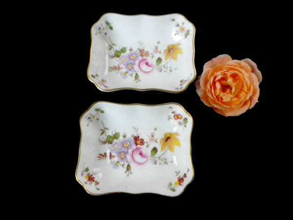 2 Crown Derby trinket dishes, Derby Posies, floral design - Taingtiques - 1