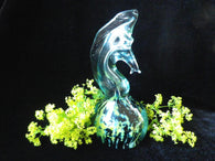 Mdina seahorse glass paperweight, signed Maltese art glass - Taingtiques - 1