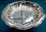 Silver plated pedestal dish & sweet bowl, Oneida USA, fluted design, matching pair - Taingtiques - 4