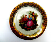 Limoges small plate or saucer, Fragonard courting couples - Taingtiques - 1