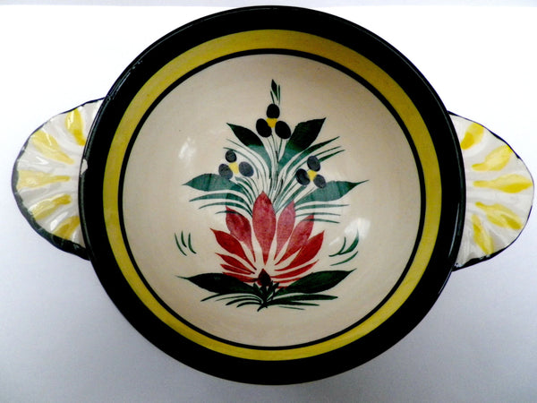 Hand painted Quimper porringer bowl, French Pottery - Taingtiques - 1