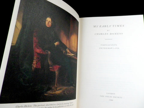 My Early Times, Charles Dickens, Folio Society book - Taingtiques - 1