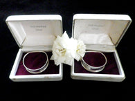 2 silver napkin rings, English hallmarked, boxed - Taingtiques - 1