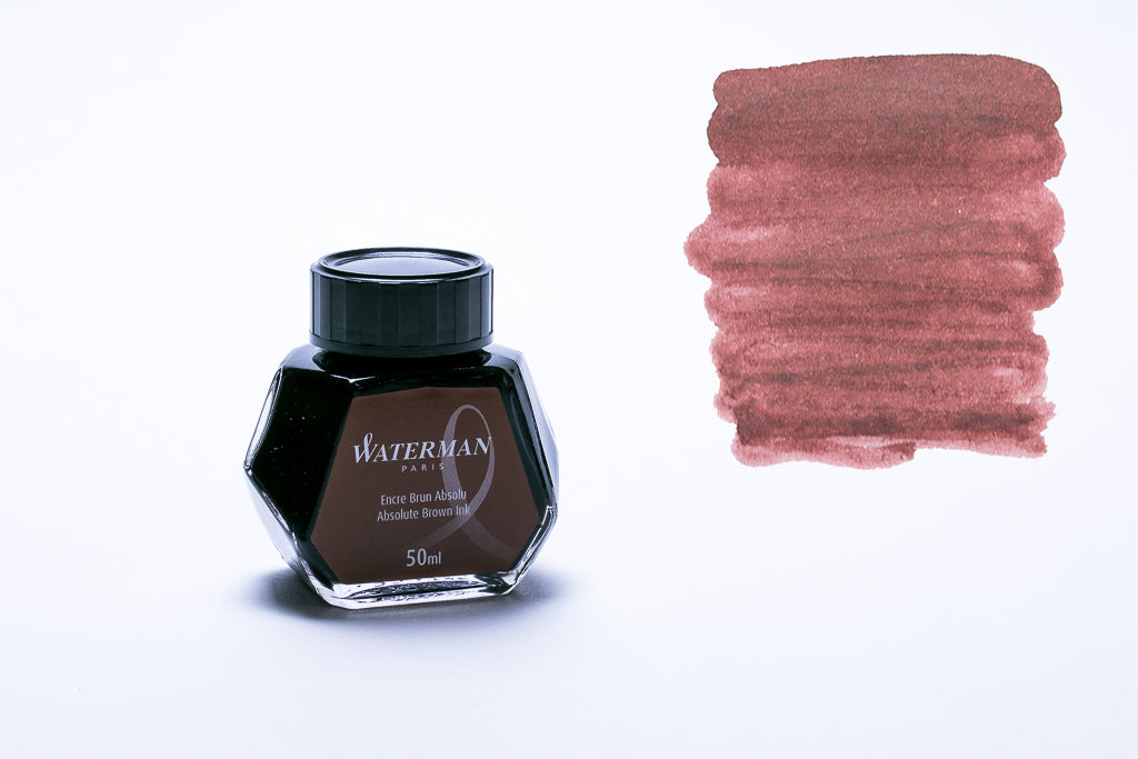 Waterman Paris, Absolute Brown Fountain Pen Ink, 50ml Bottle