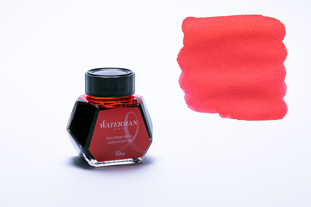 Waterman Paris, Audacious Red Fountain Pen Ink, 50ml Bottle