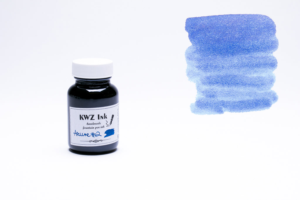 KWZ Ink, Azure #2 Fountain Pen Ink, 60ml