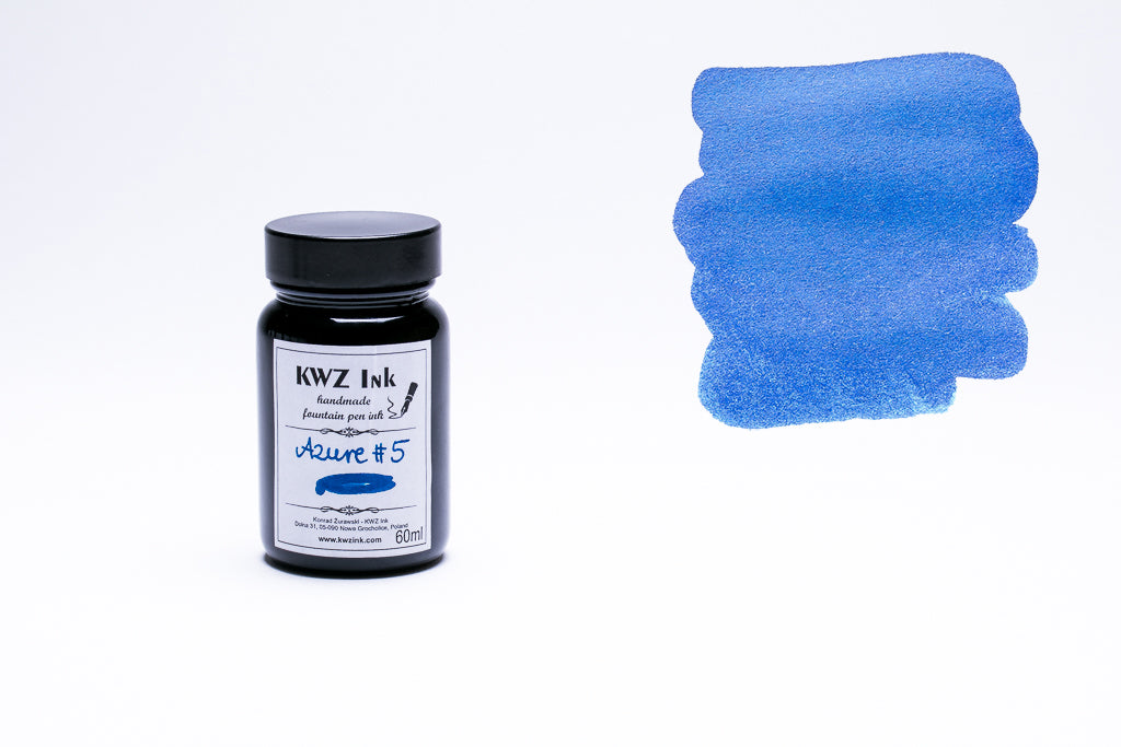 KWZ Ink, Azure #5 Fountain Pen Ink, 60ml
