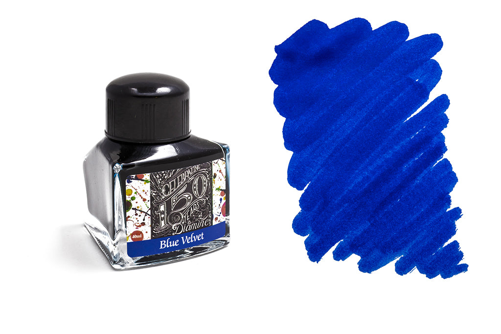 Diamine, 150th Anniversary Ink, Blue Velvet, 40ml