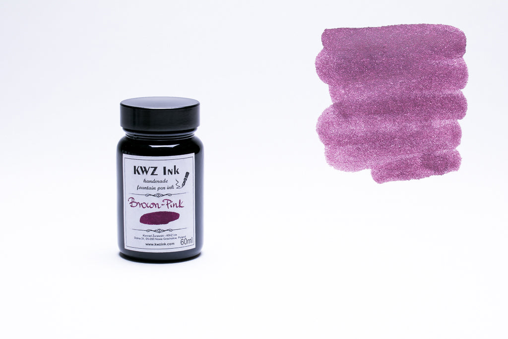 KWZ Ink, Brown Pink Fountain Pen Ink, 60ml