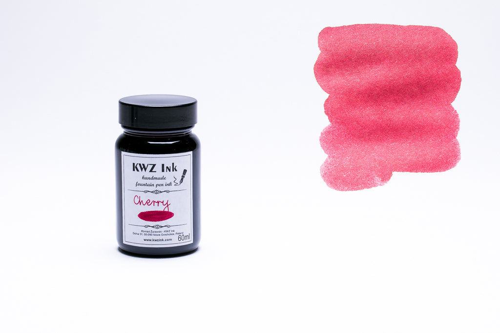 KWZ Ink, Cherry Fountain Pen Ink, 60ml