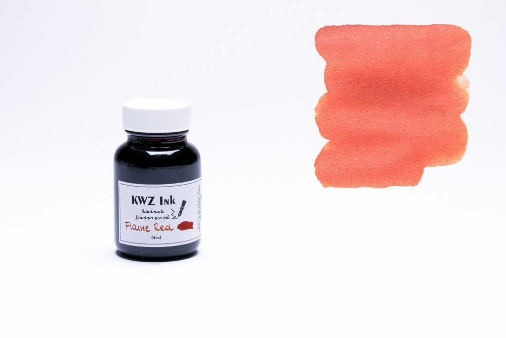 KWZ Ink, Flame Red Fountain Pen Ink, 60ml