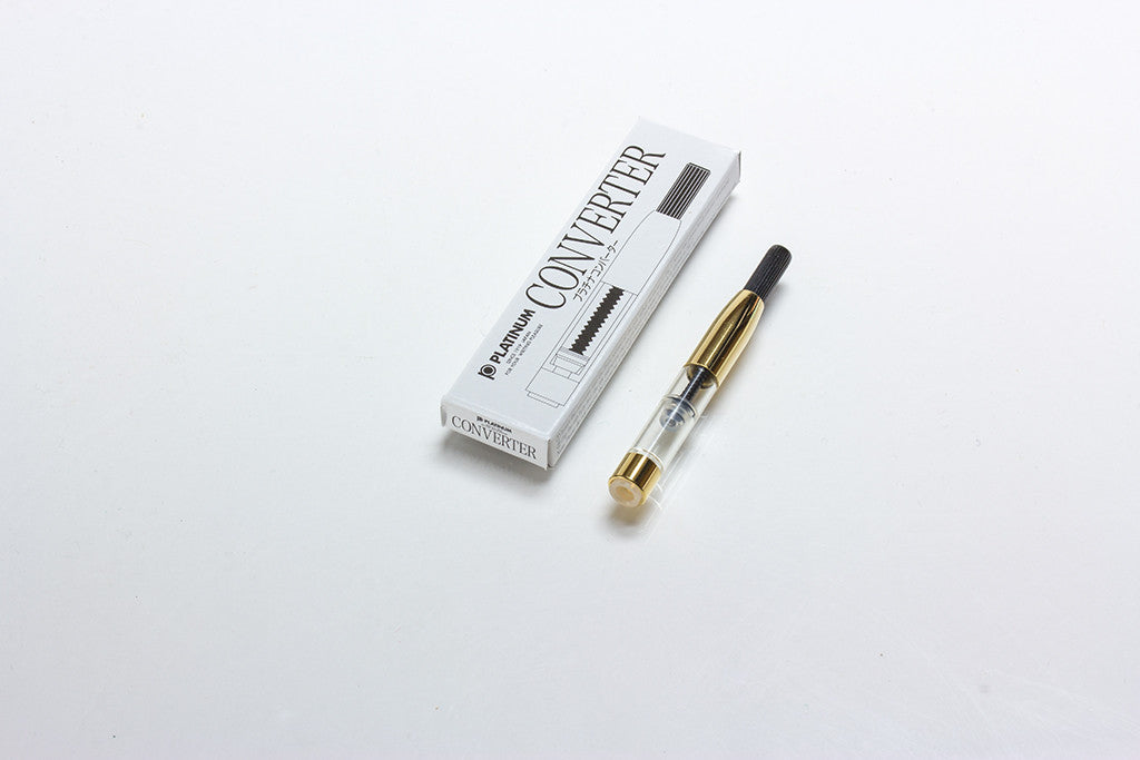 Platinum Fountain Pen Converter, Gold Trim