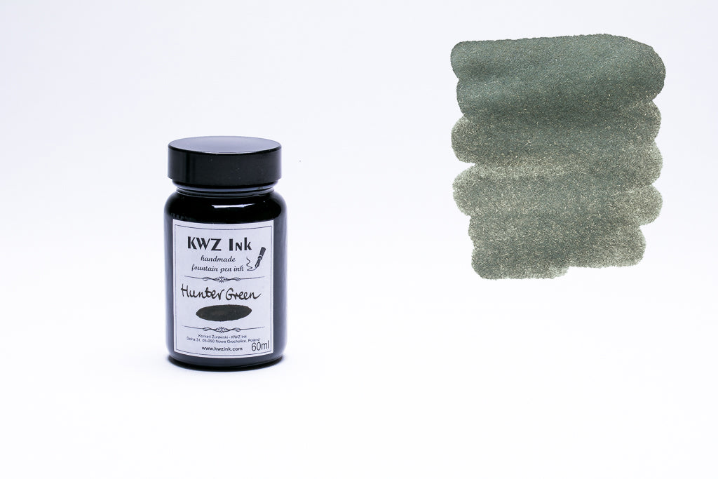 KWZ Ink, Hunter Green Fountain Pen Ink, 60ml