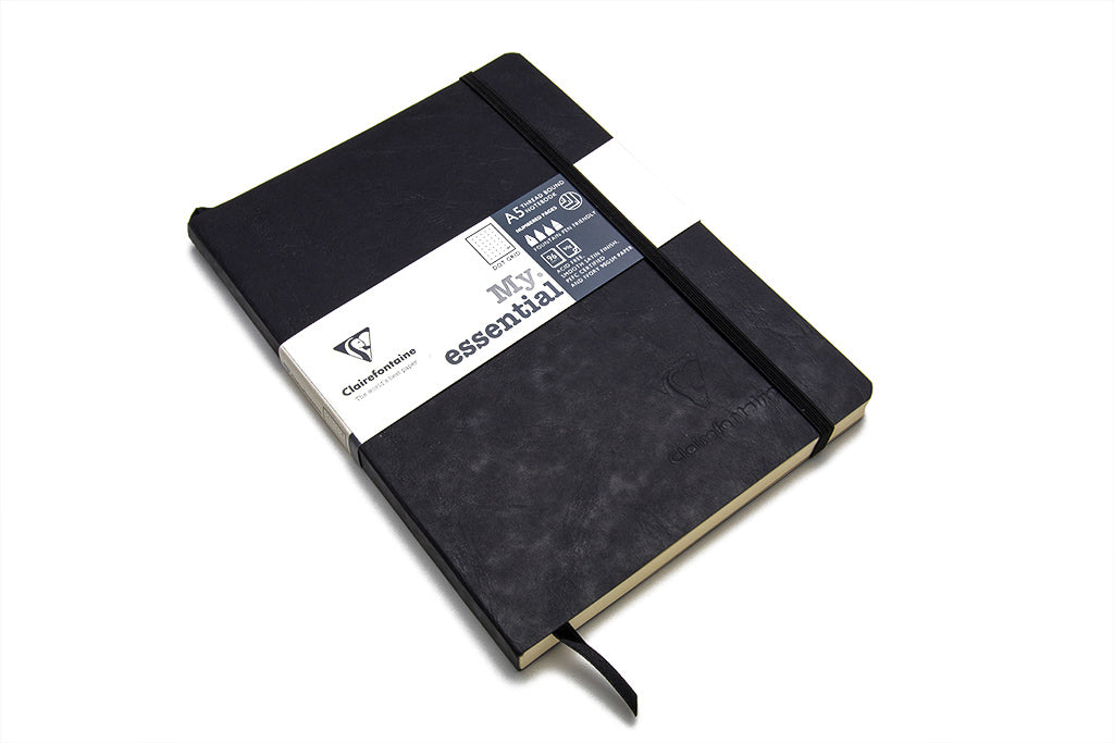 Clairefontaine, My Essential Notebook, Black, A5, 96 Sheets, Dot Grid