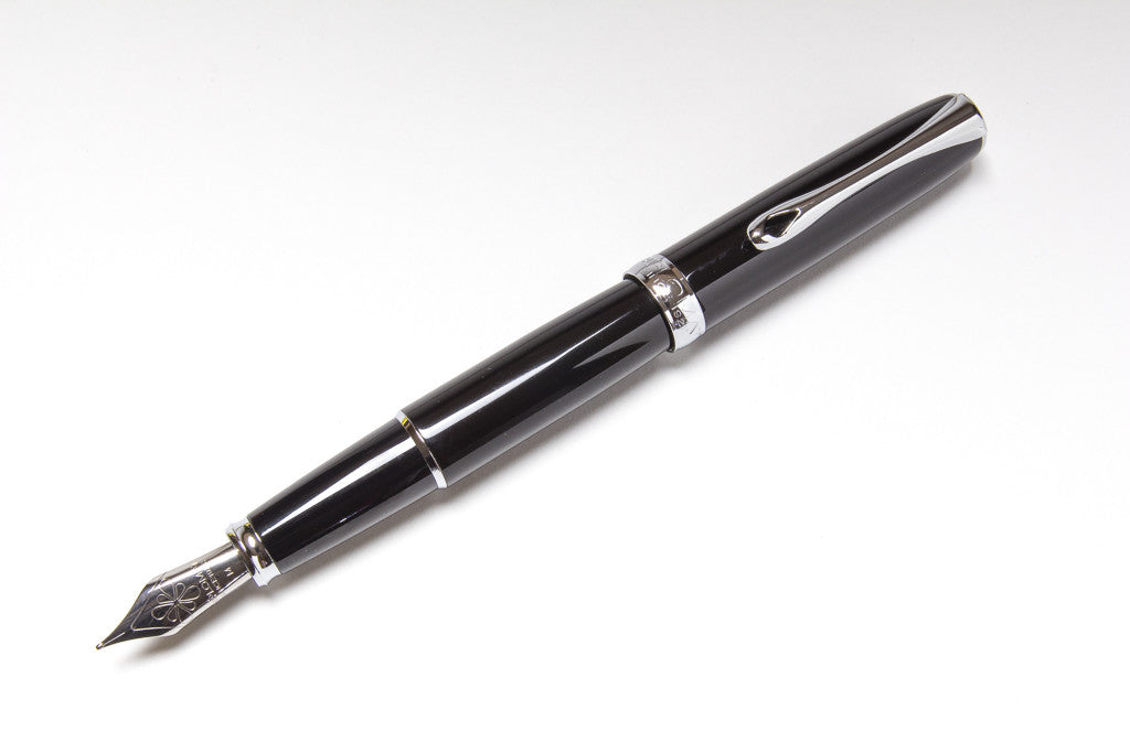 Diplomat Excellence A Fountain Pen in Black, Posted