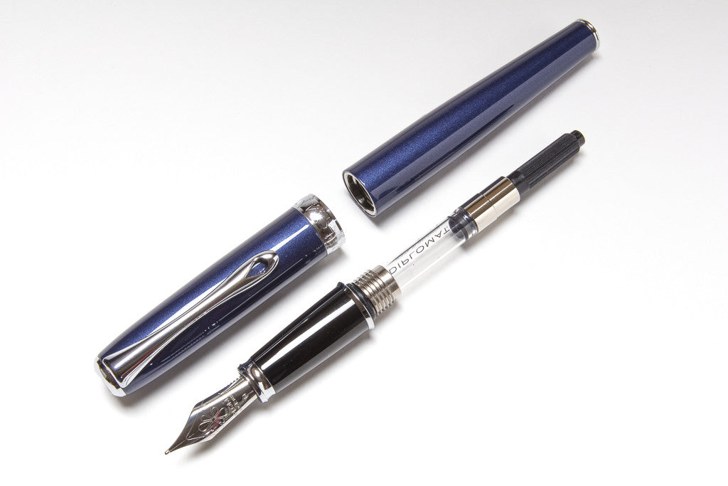 Diplomat Excellence A Fountain Pen in Midnight Blue, Parts