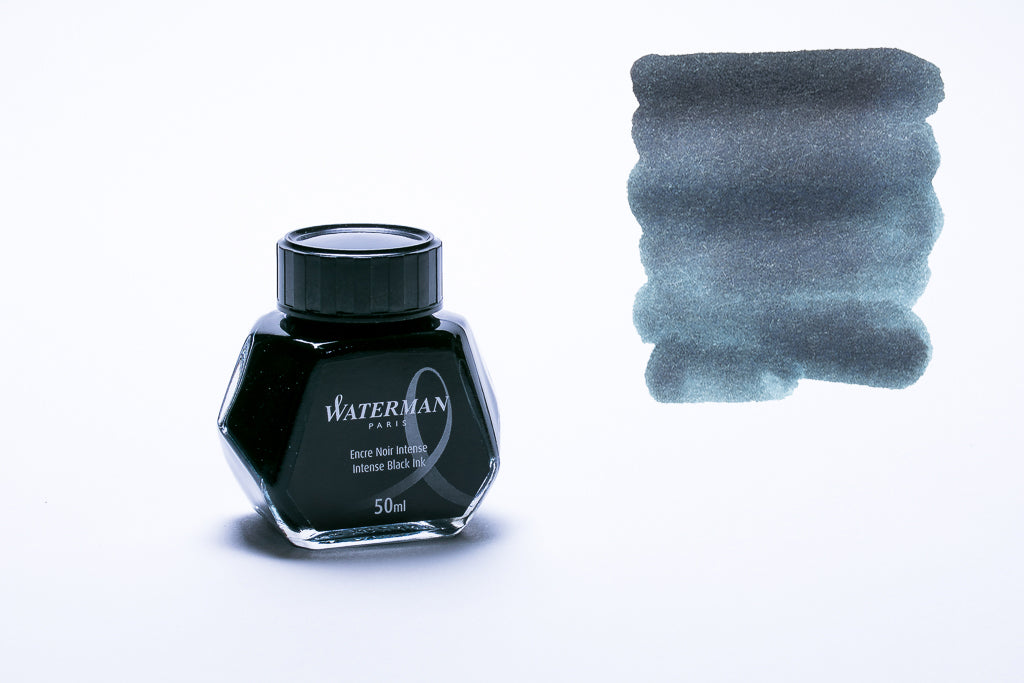 Waterman Paris, Intense Black Fountain Pen Ink, 50ml Bottle