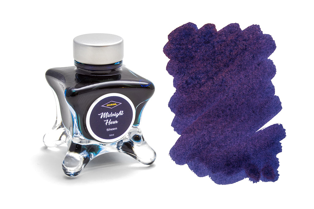 Diamine, Midnight Hour, Sheen Fountain Pen Ink, 50ml
