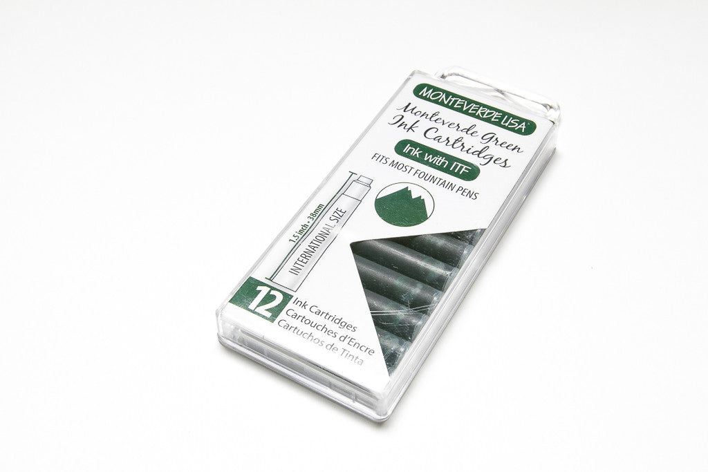 Monteverde, Monteverde Green, Twelve Ink Cartridges