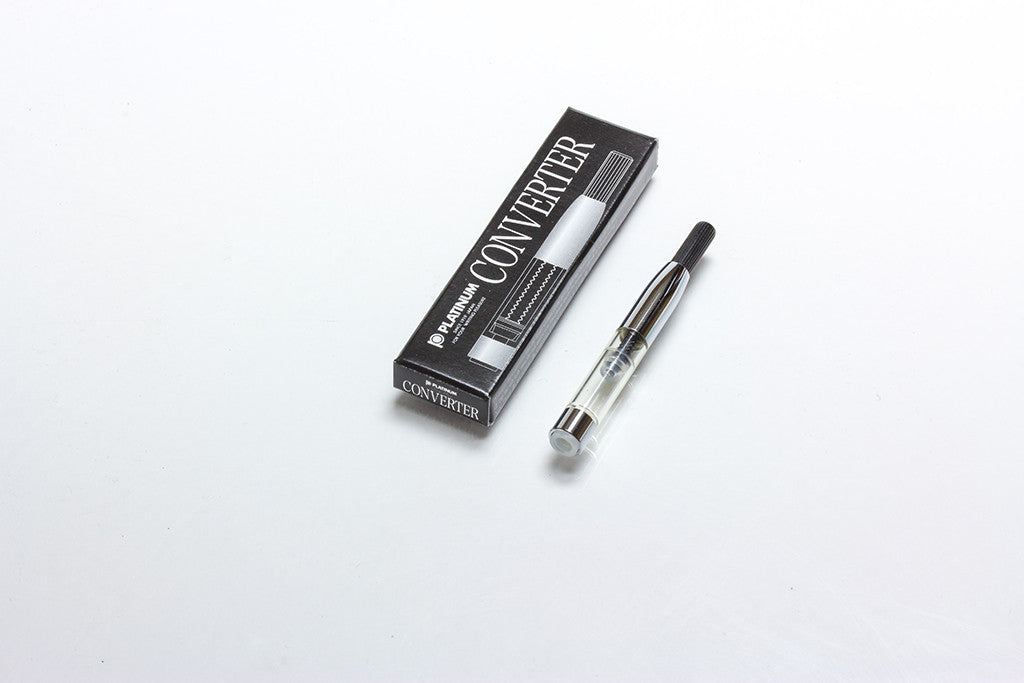 Platinum Fountain Pen Converter, Silver Trim