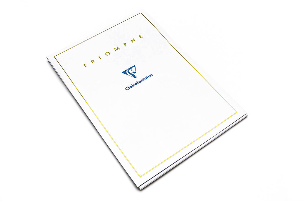 Clairefontaine, Triomphe Pad, White, A4, 50 Sheets, Blank