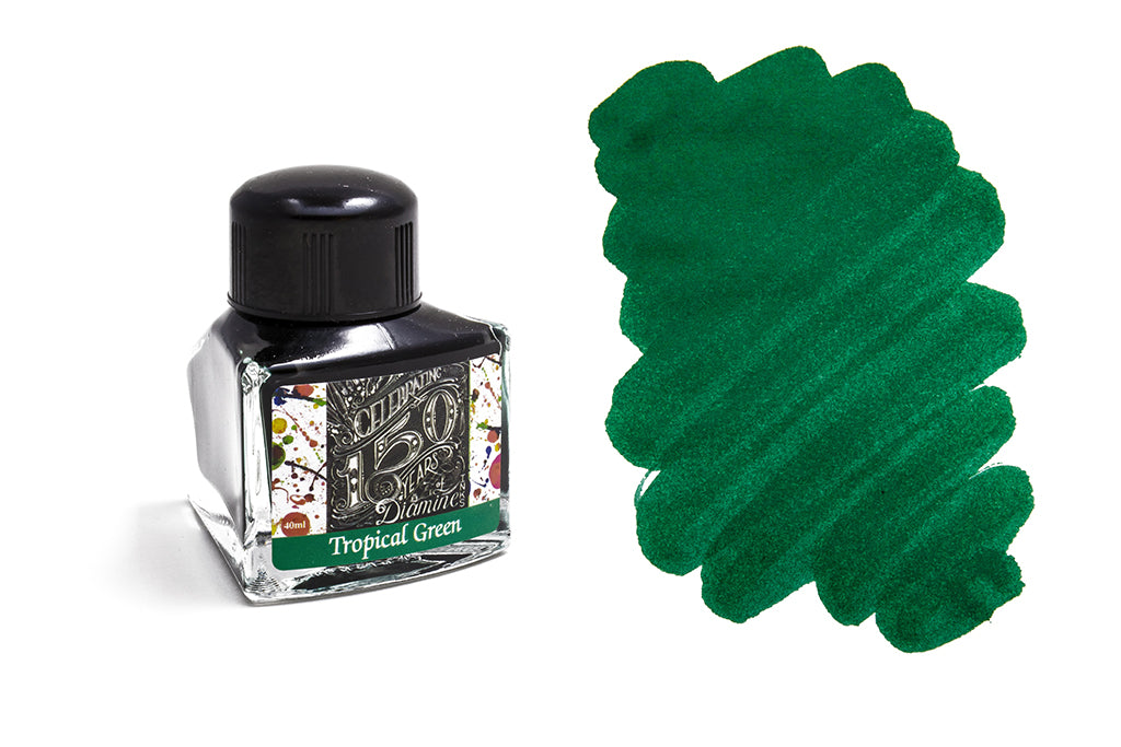 Diamine, 150th Anniversary Ink, Tropical Green, 40ml