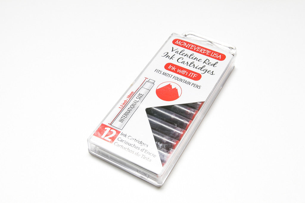 Monteverde, Valentine Red, Twelve Ink Cartridges