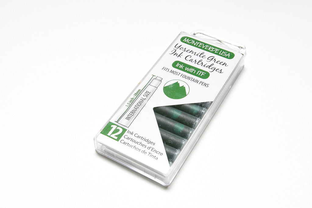 Monteverde, Yosemite Green, Twelve Ink Cartridges