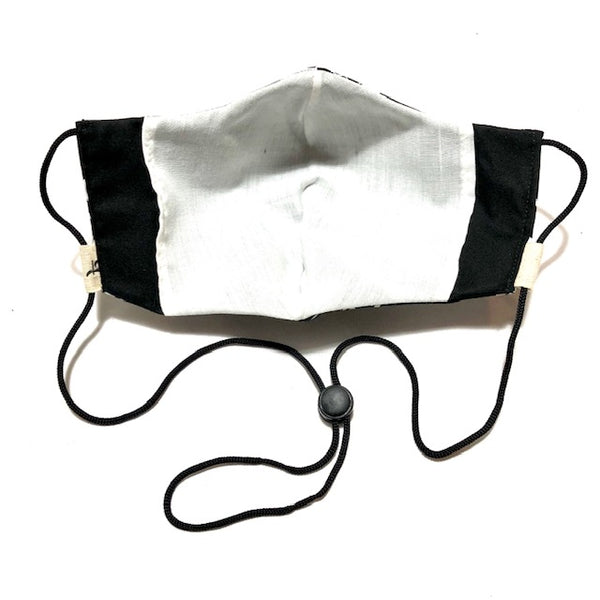 Black & White Ohm Face Mask w/Filter Pocket
