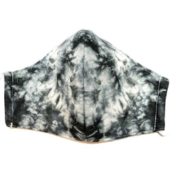 Black & White Tie Dye Face Mask w/Filter Pocket