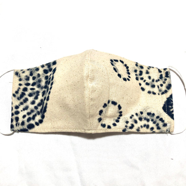 Ivory & Indigo Tie Dye Cotton Face Mask
