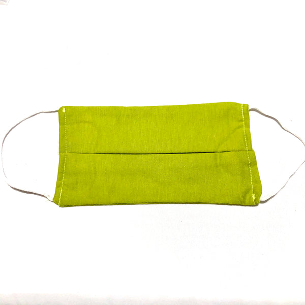 Cotton Face Mask Two Layer Avocado Green
