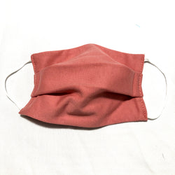 Cotton Face Mask Two Layer Dusty Rose