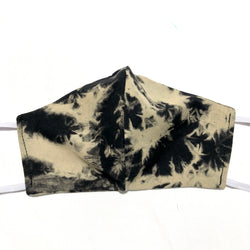 Black & Tan Tie Dye Cotton Face Mask SALE